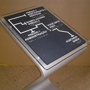 Mapa tátil de acessibilidade